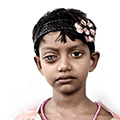 mithila/ 7 years/ chik keshibploz/ student/ eye operation two years ago
